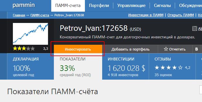 Инвестировать в ПАММ счет